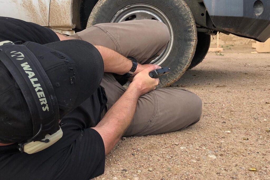 Riley Bowman Shooting Under Vehicle